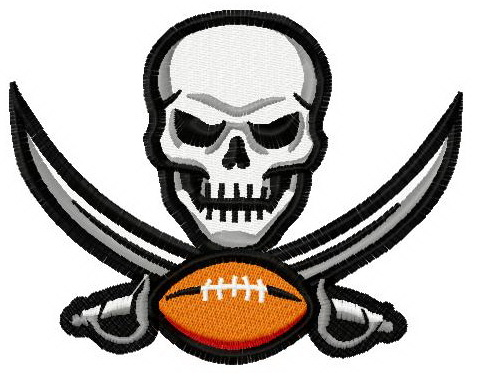 Tampa Bay Buccaneers Logo 2 Machine Embroidery Design