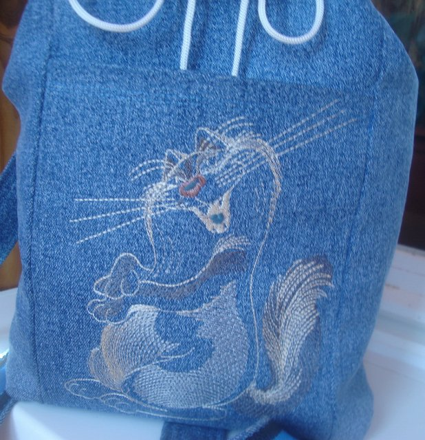 Funny cute cat design on bag1