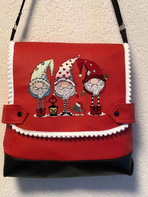 Womens bag with dwarves embroidery design