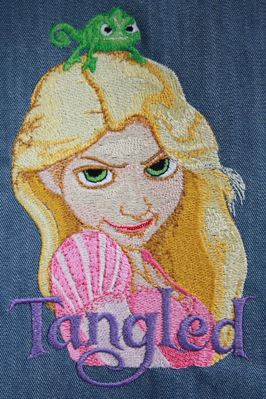 Rapunzel machine embroidery design