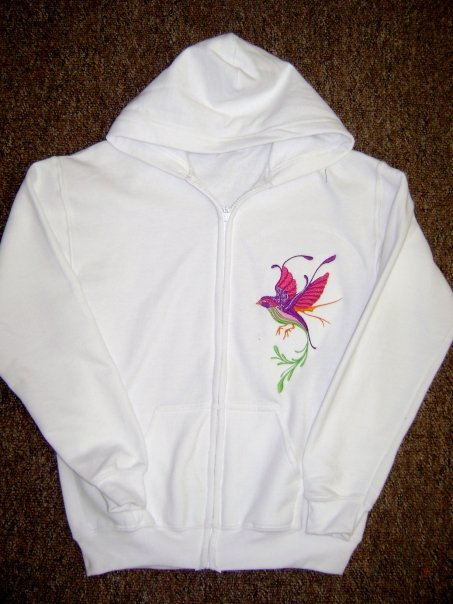 Fantastic bird  embroidered on jacket