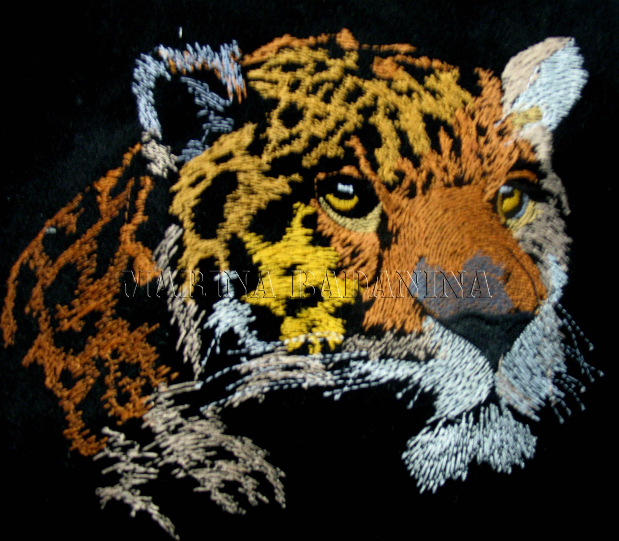 Leopard instant download 4x4 inch hoop Monogram Leopard Machine Embroidery File design