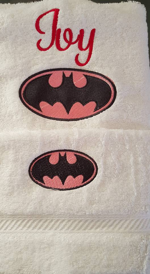Batman logo design on towel13