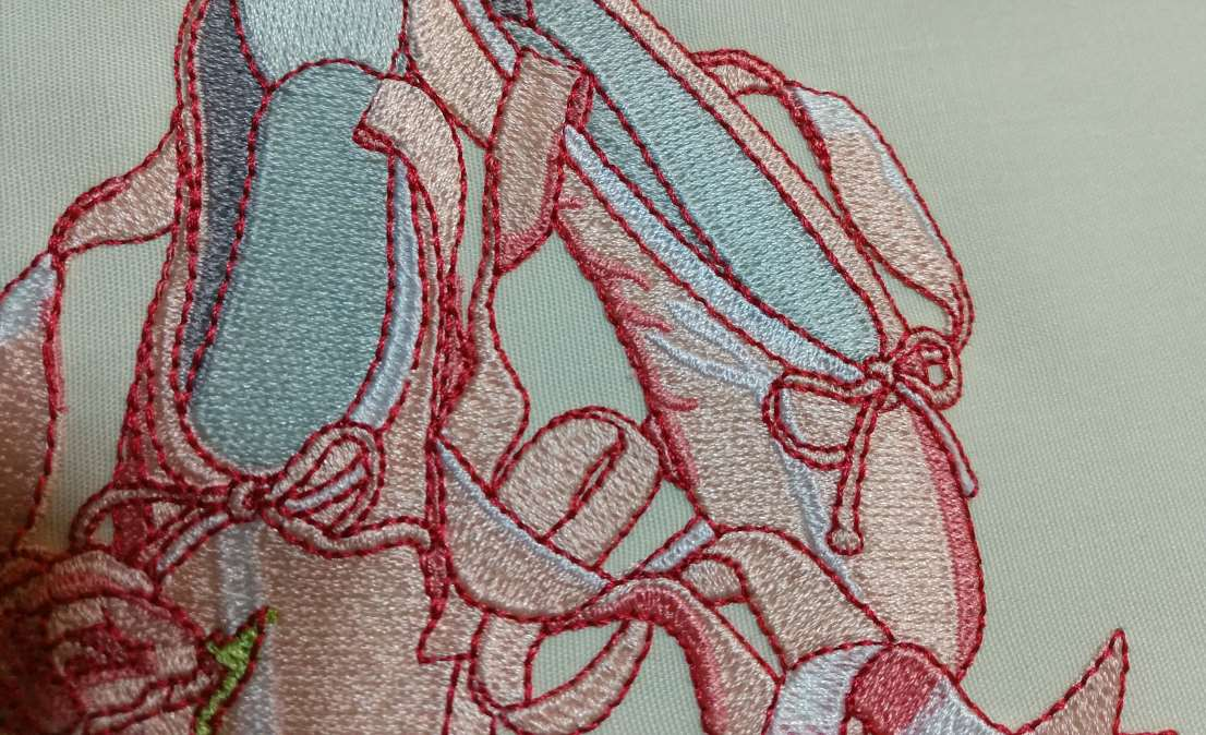 pointe shoes machine embroidery