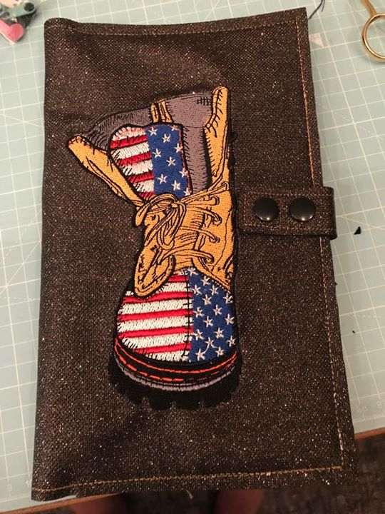 Wallet with American fashion embroidery design