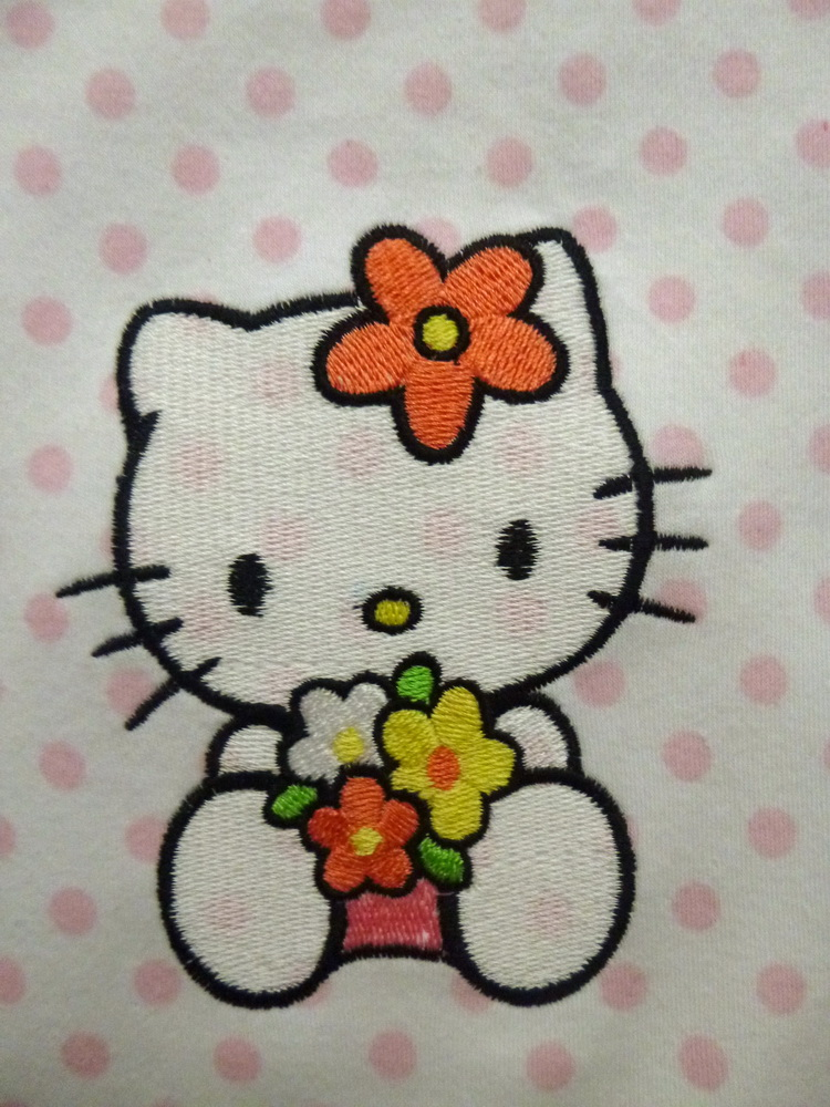 Hello Kitty embroidred on romper