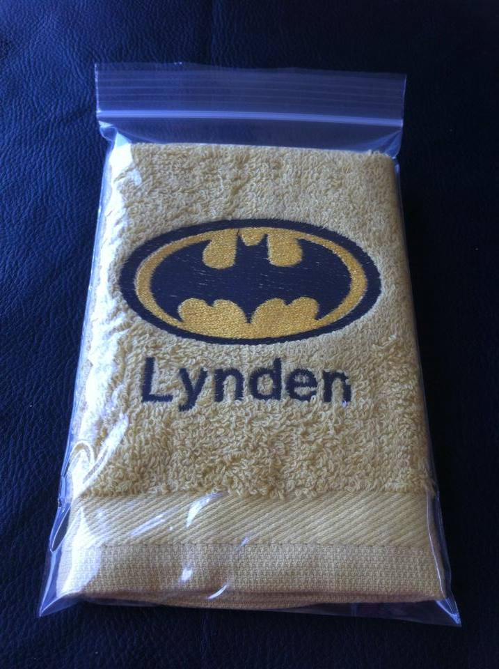 Batman logo design on towel5
