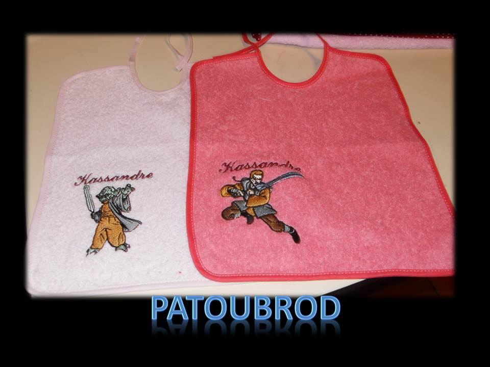 Star Wars embroidery designs on bibs