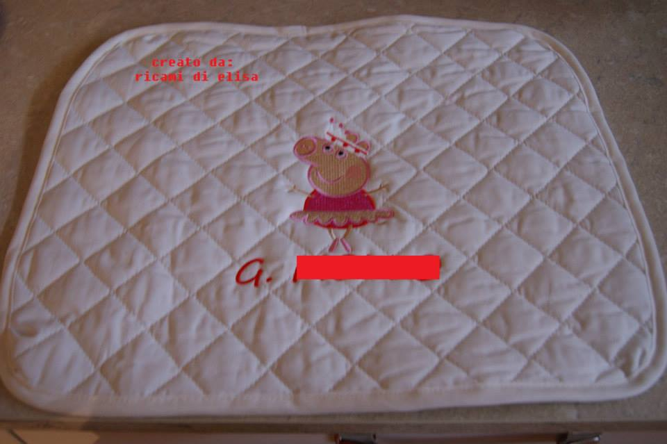 Peppa pig ballerina design on potholder1