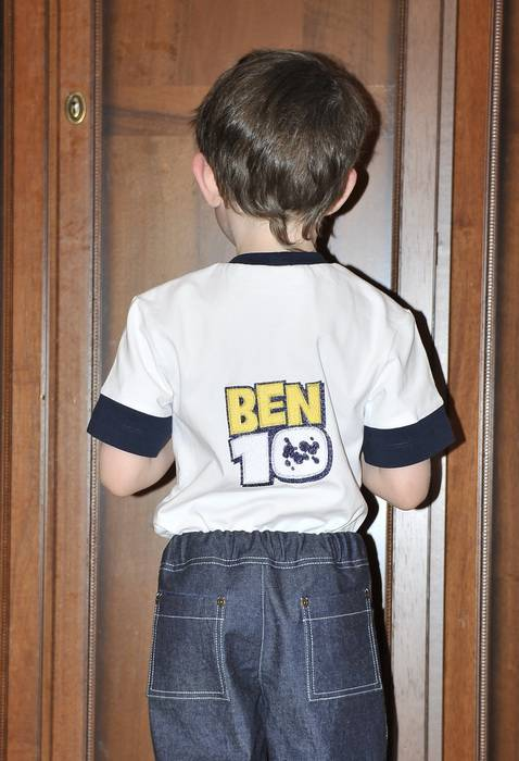Ben 10 design embroidered on t-shirt