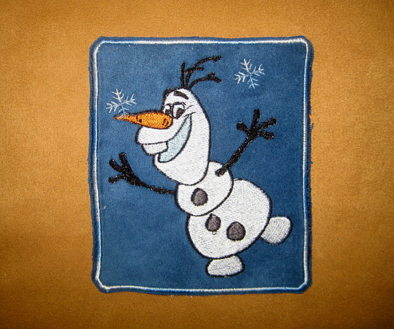Happy Olaf design embroidered