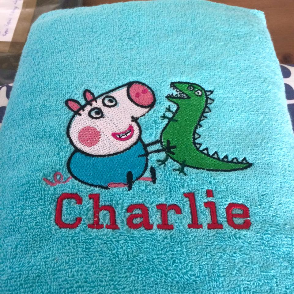 Peppa Pig with Caterpillar design on towel2