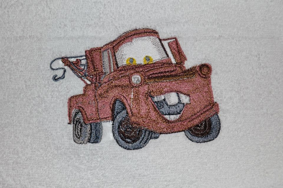 Mater car embroidery design