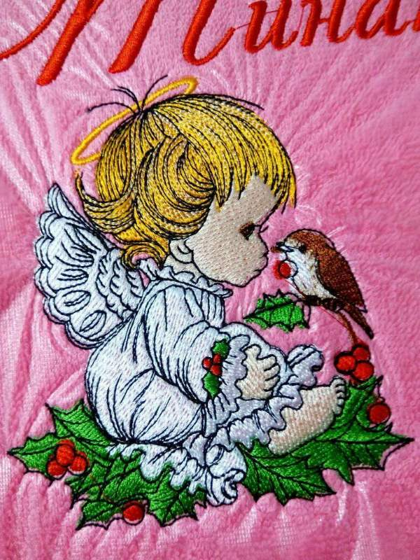 In hoop Christmas Angel embroidery design
