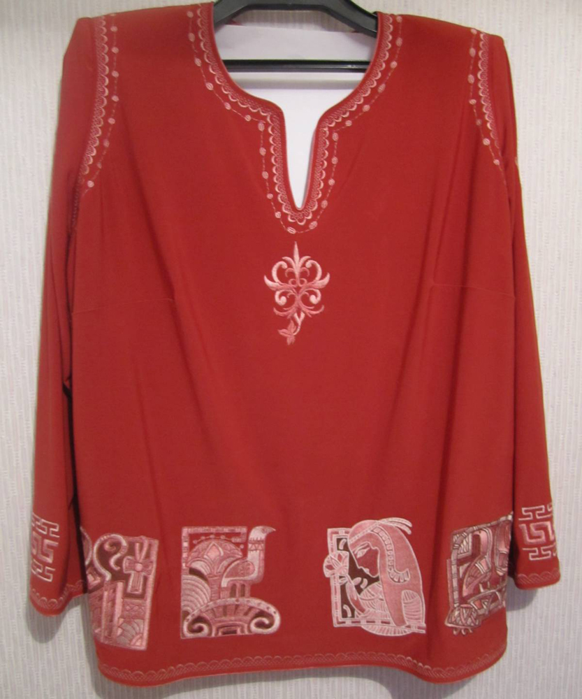 Women shirt with Egyptian machine embroidery designs