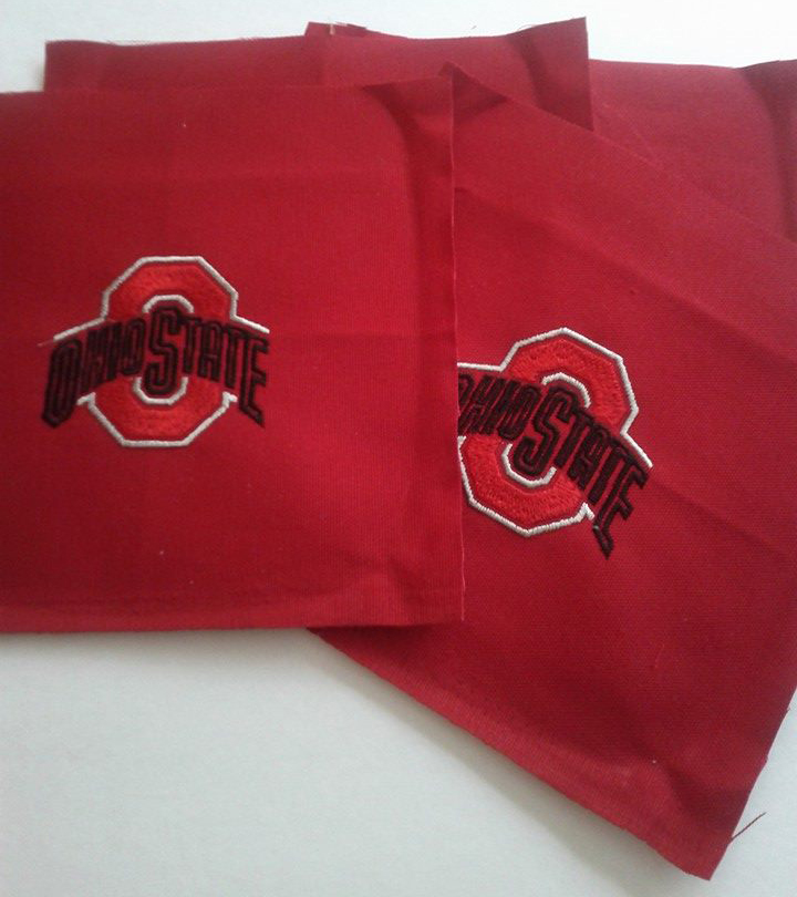 Ohio State Buckeyes Logo design on pillowcase embroidered