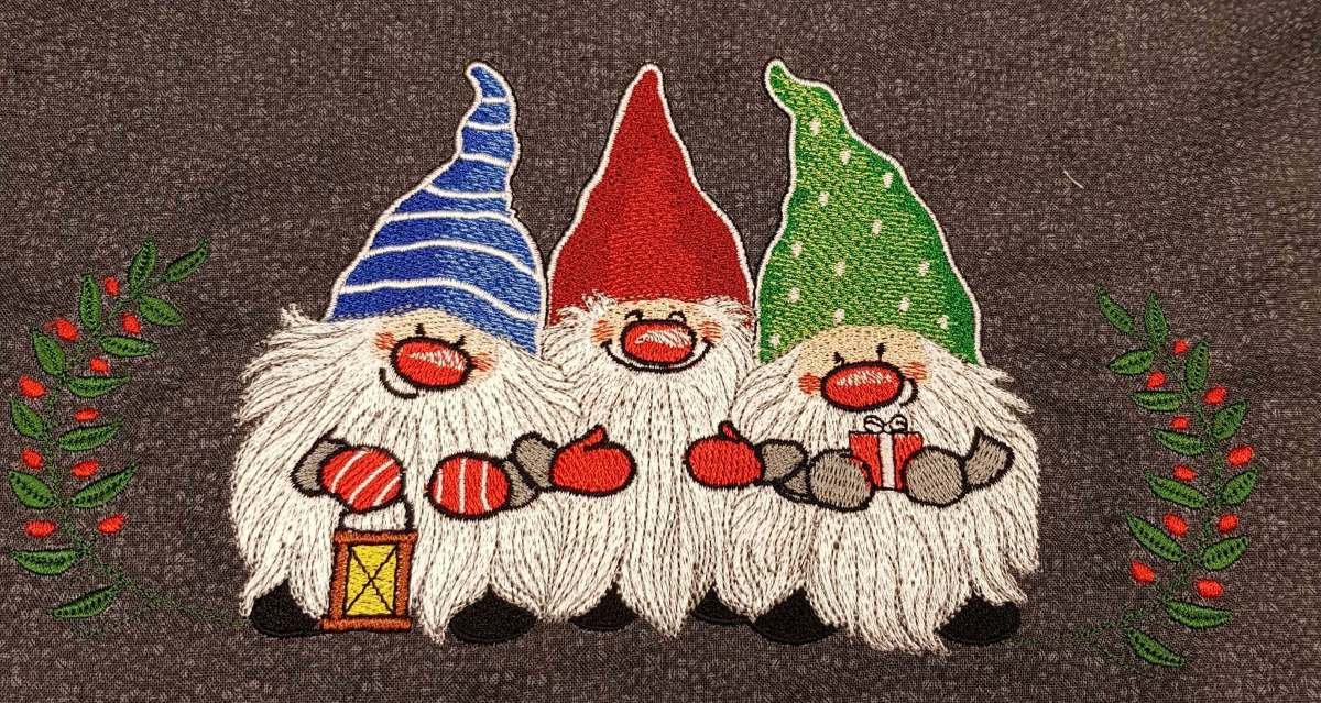 Dwarfs embroidered design