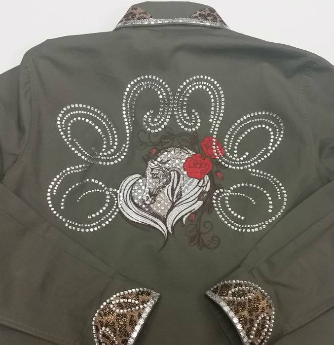 Jacket with Horse embroidery design