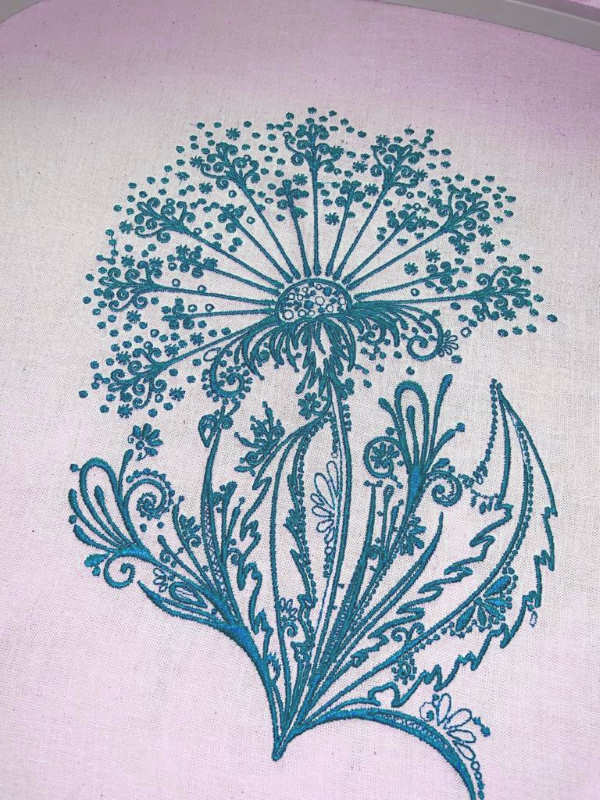 Dandelion marine embroidered design