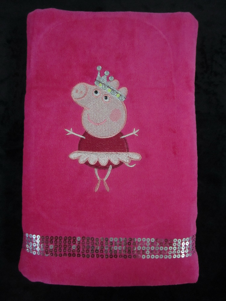 Peppa pig ballerina design on towel 1