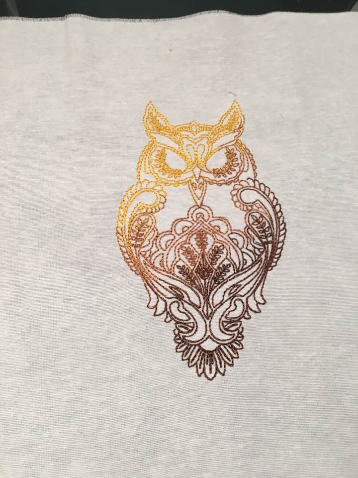 owl free embroidery design