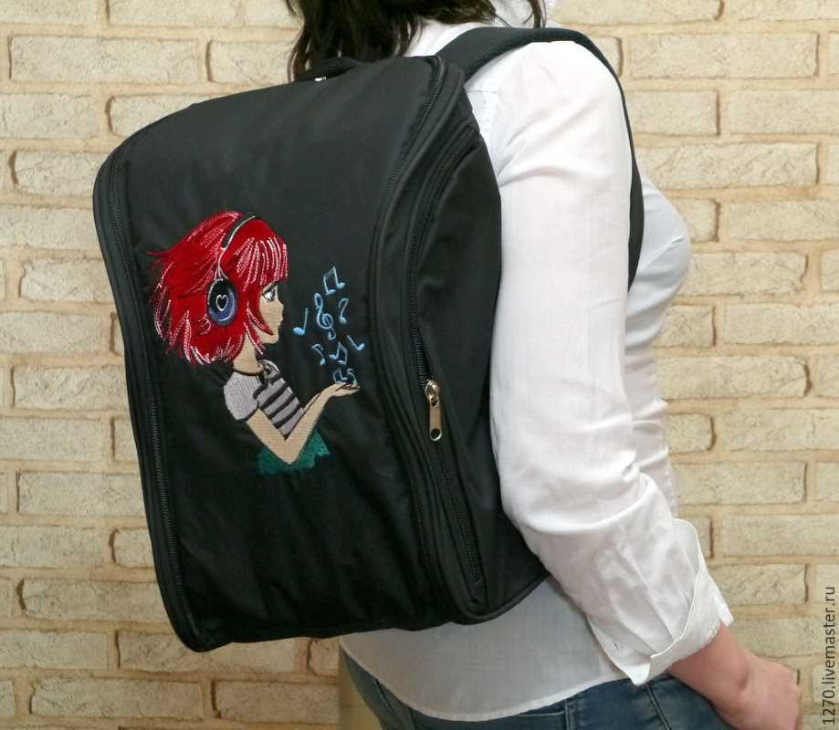Back to school with new embroidered backpack