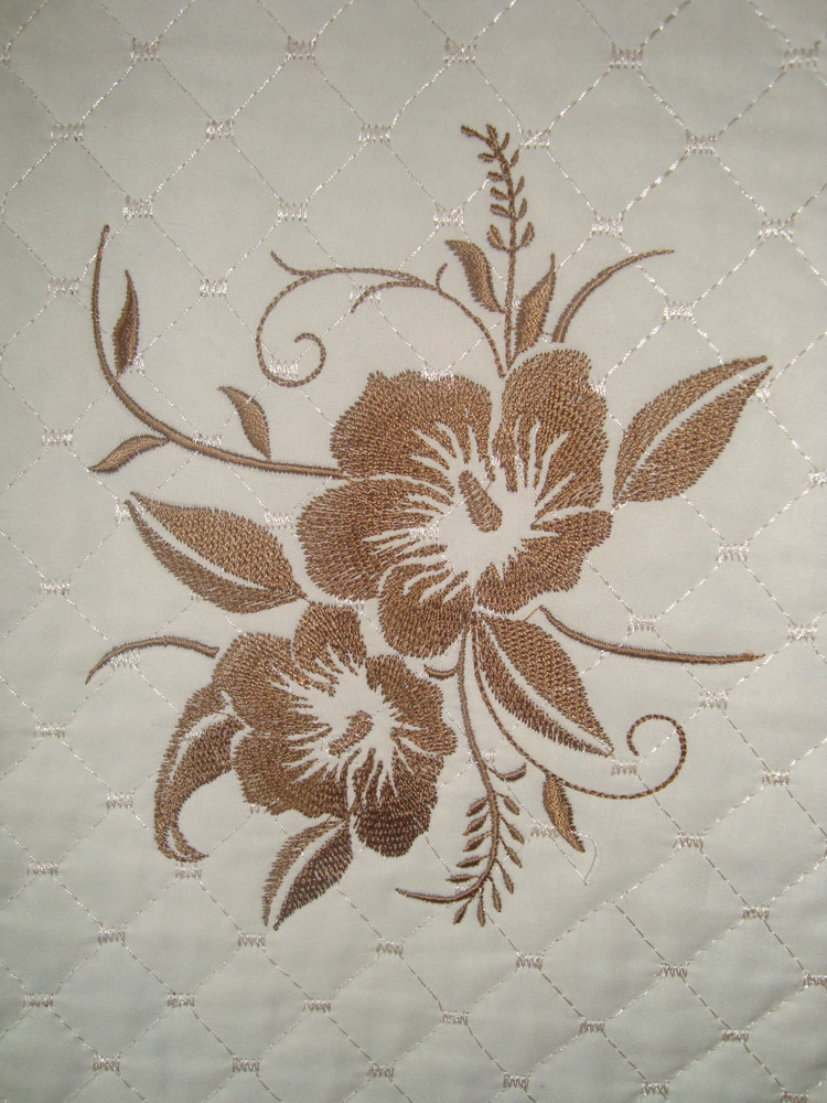 Flowers free machine embroidery design