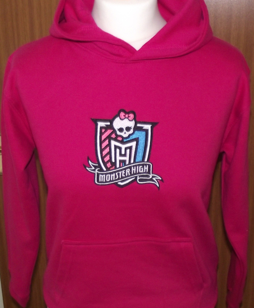 Jacket with Monster High embroidered design