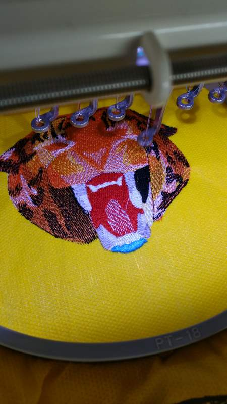 Cheetah embroidery design process