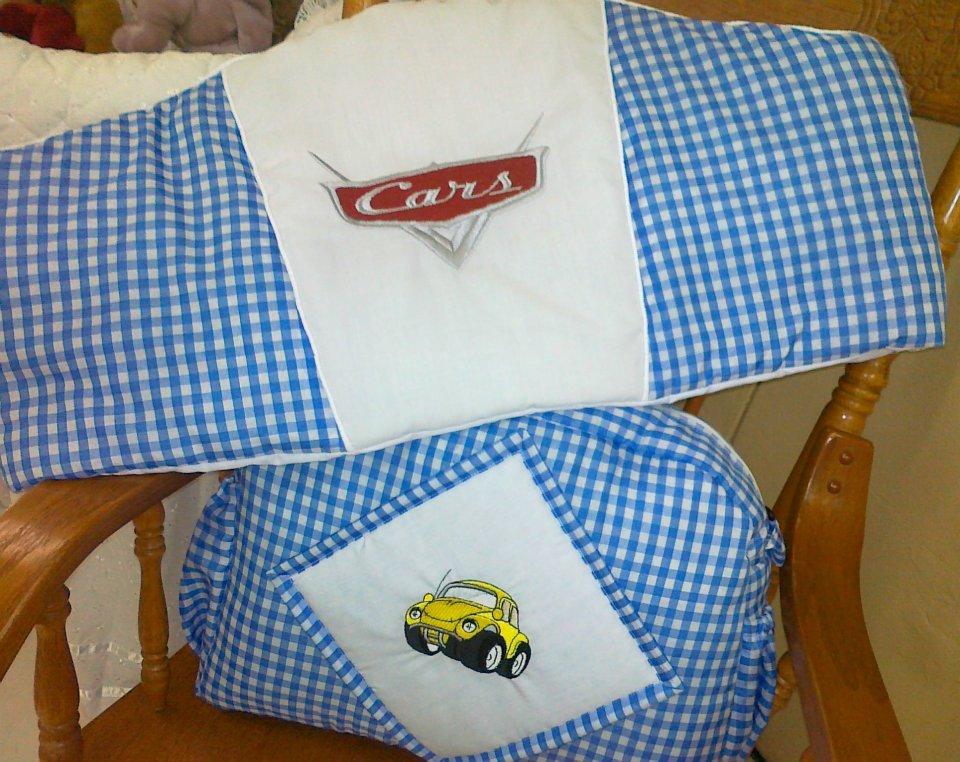 Cars design embroidered