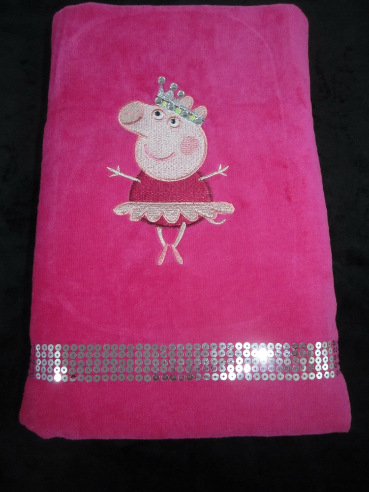 Peppa pig ballerina design on towel 4