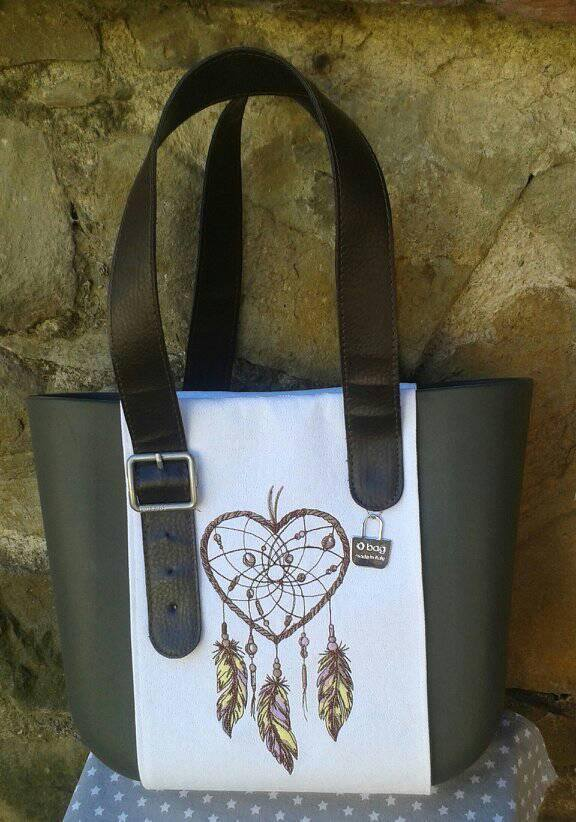 Stylish bag with Dreamcatcher embroidery design