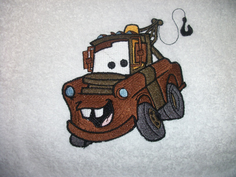 Mater machine embroidery design Cars