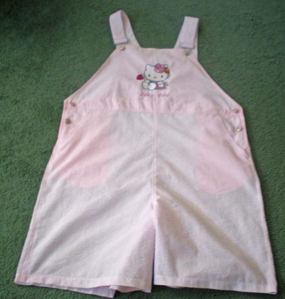 Hello kitty with rose design on embroidered pants