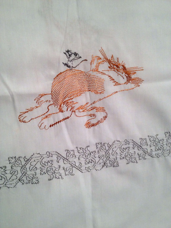 Sassy cat free embroidered design