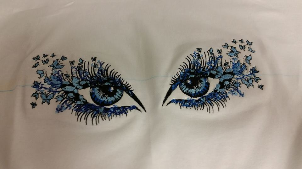 Shirt with Breathtaking look machine embroidery design