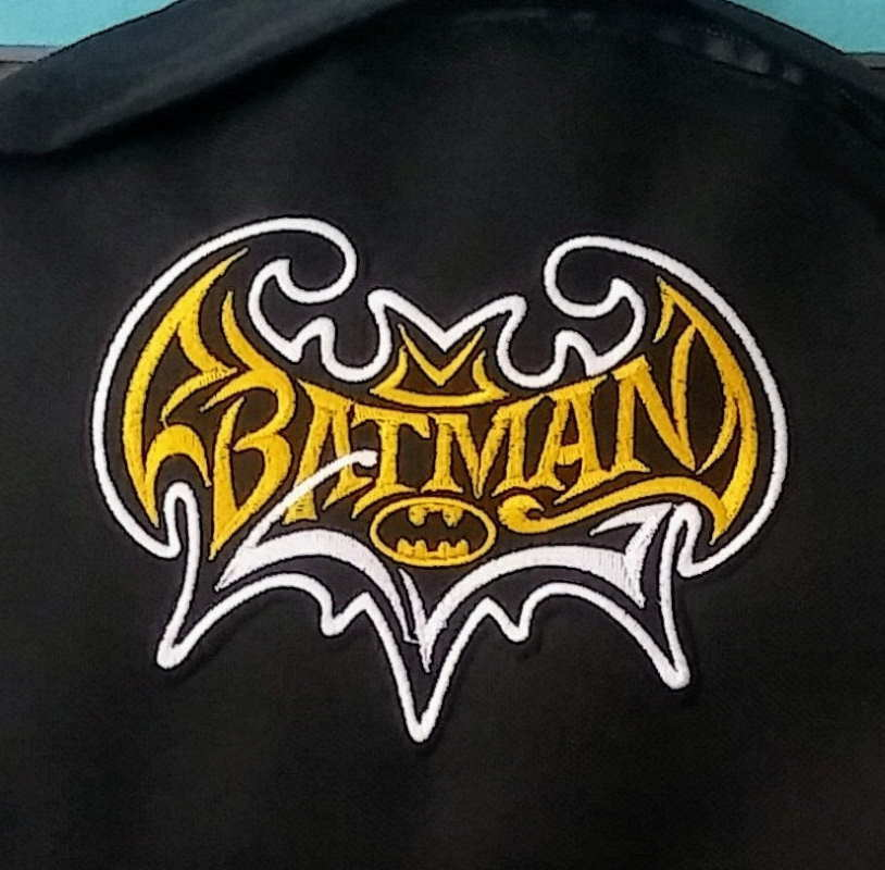 Batman vintage embroidered logo