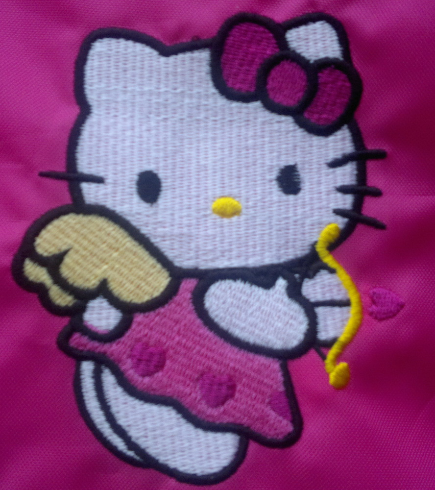 Hello Kitty cupid design embroidered