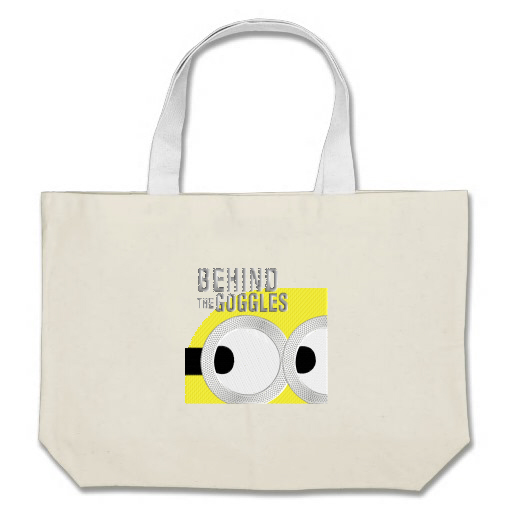 Embroidered bag with minion