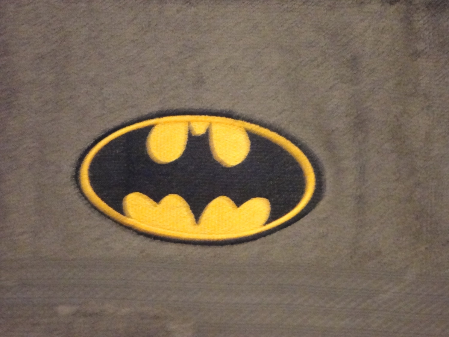 Batman logo design on towel18