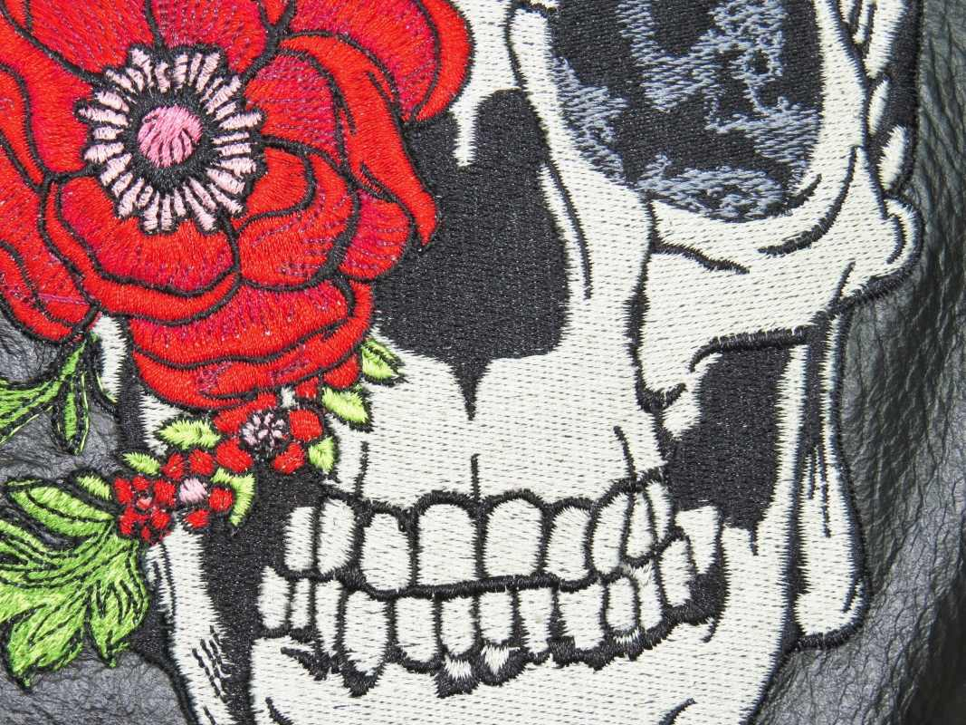 Skull and Roses embroidery