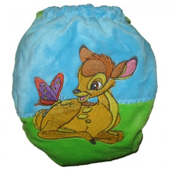 Bambi and butterfly machine embroidery design on clothes