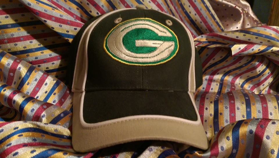Green Bay Packers Logo design on cap embroidered