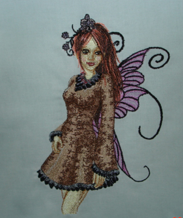 Modern fairy embroidered