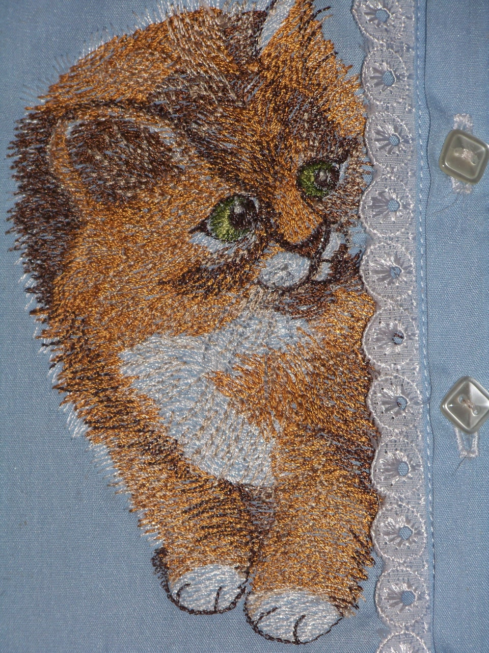 Kitten embroidered free design