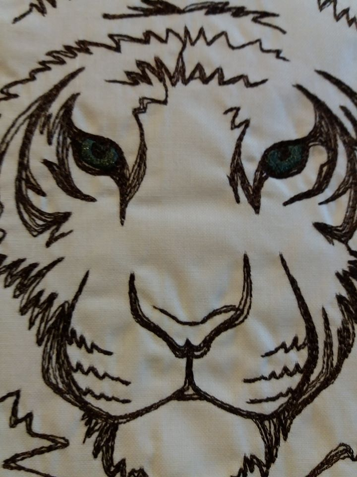 Tiger free embroidery design