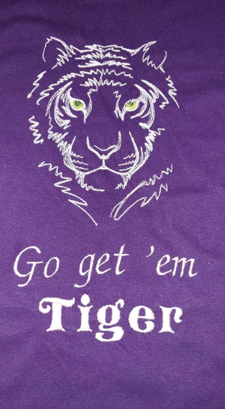 Go get em tiger embroidery design