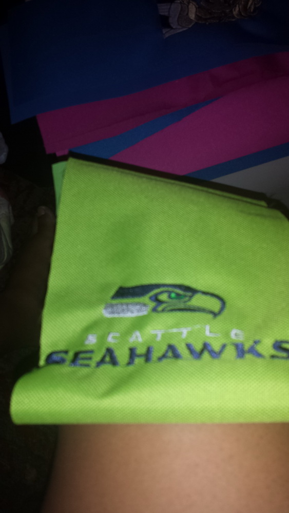 Embroidered Seattle Seahawks logo