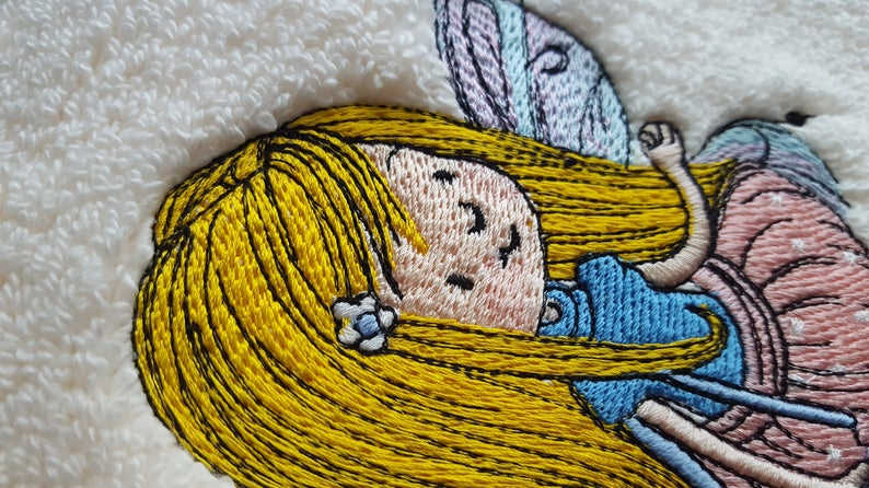 Fairy face embroidery design