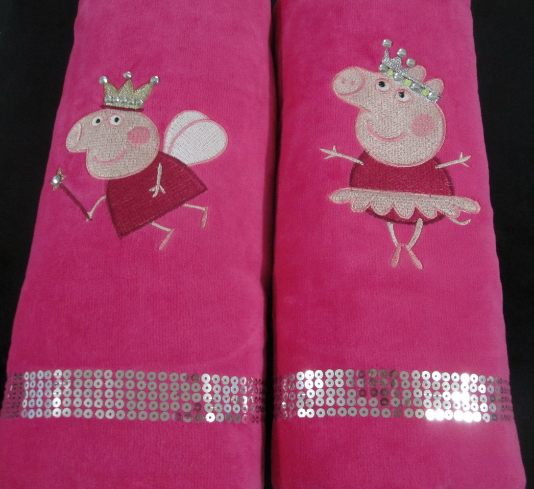 Peppa Pig differenet designs on towels 1